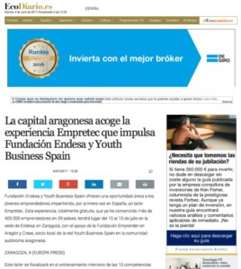 Taller Empretec de Youth Business Spain en El Economista