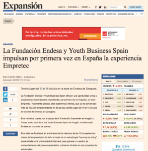 Taller Empretec de Youth Business Spain en Expansion